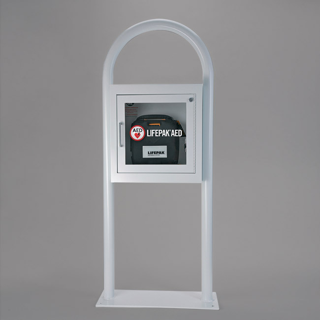 PHYSIO-CONTROL AED FLOOR STAND CABINET WITH ALARM