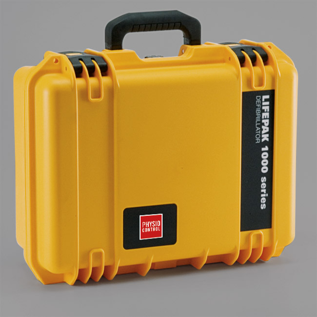 HARD SHELL, WATER-TIGHT CARRYING CASE FOR LIFEPAK 1000 AED