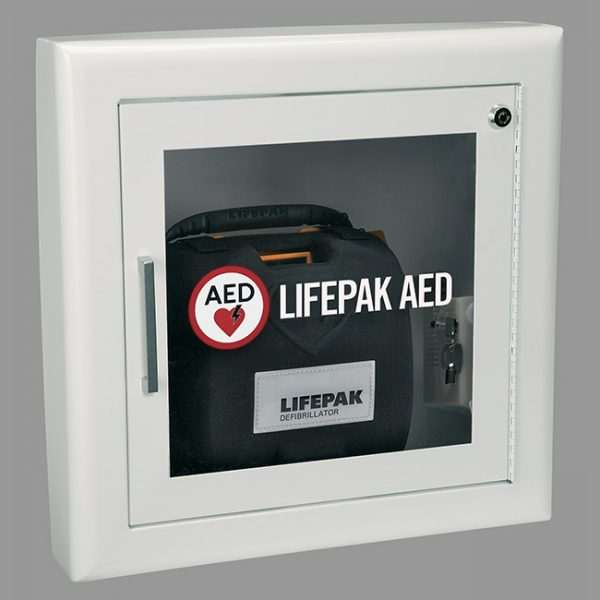 PHYSIO CONTROL AED WALL CABINET-WHITE FULLY RECESSED