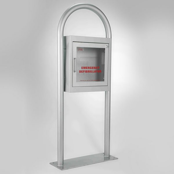 1483F12 AED Free Standing Cabinet White