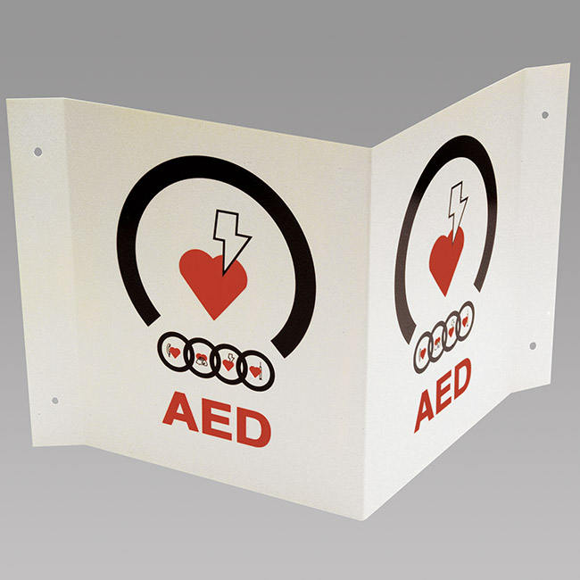TRIANGLE AED WALL SIGN