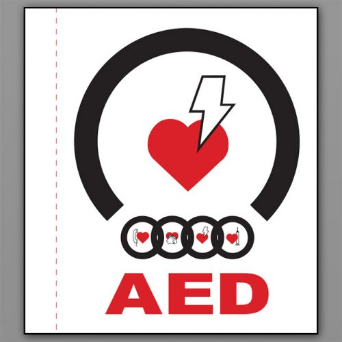 Flat AED Wall Sign