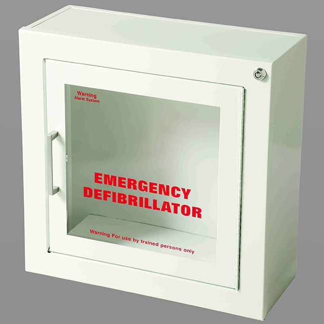 AED WALL CABINET-WHITE FINISH, SURFACE MOUNT